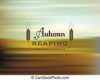 Autumn reaping