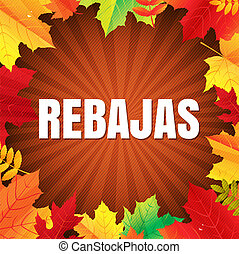 Autumn Rebajas Poster With Leaves