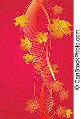 Autumn red background