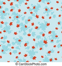 Autumn red leaves seamless