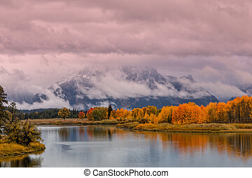 Autumn Reflection in the Tetons