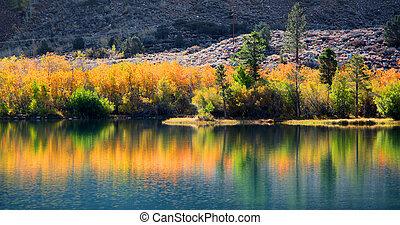 Autumn reflections landscape