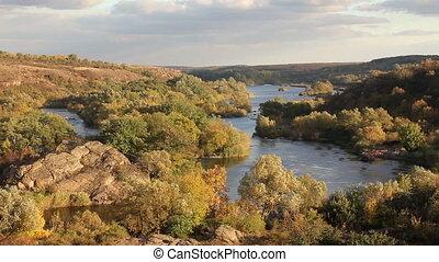 Autumn river landscape, Full HD