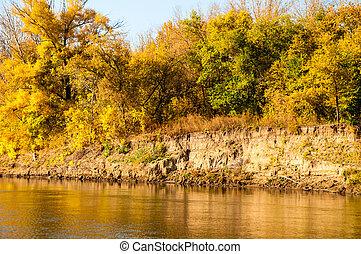 Autumn River Ural - The Ural River is a natural border ...