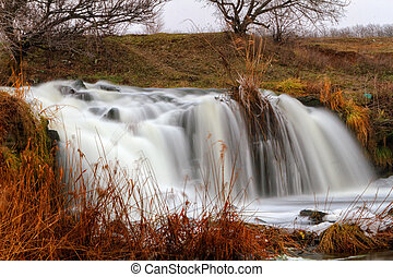 waterfall on the river Kalmius