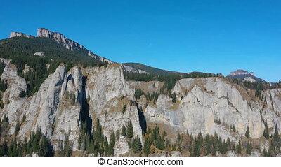 Autumn rocky mountain landscape in Romanian Carpathians, ...