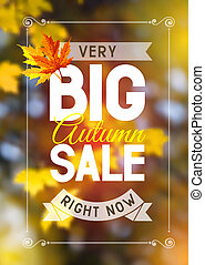 Autumn sale - Advertisement about the autumn sale on...