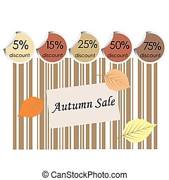 Autumn sale background with bar code