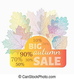 Autumn sale banner with discount.