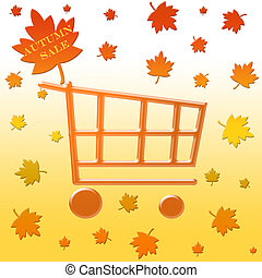 Autumn sale cart