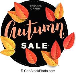 Autumn sale composition