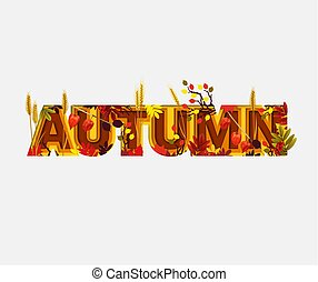 Autumn Sale Design with Falling Leaves on Light Background. Trendy Origami Paper Cut Style. Autumnal Vector Illustration for Coupon, Voucher, Poster, Banner.