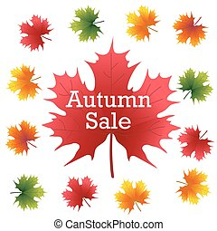 Autumn Sale on maple leaf