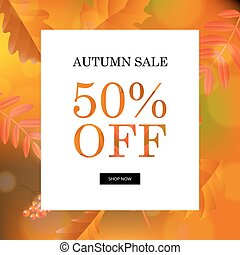 Autumn Sale Orange Poster
