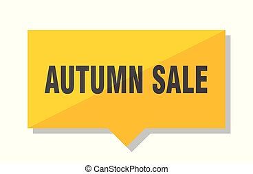 autumn sale price tag