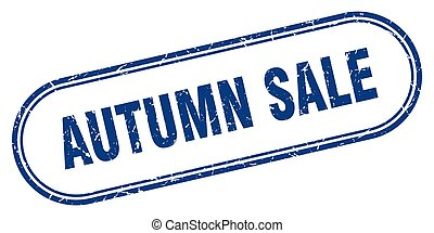 autumn sale stamp. rounded grunge textured sign. Label