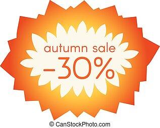 Autumn sale sticker.  Vector illustration