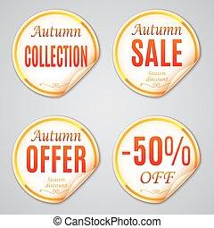 Autumn Sale Stickers