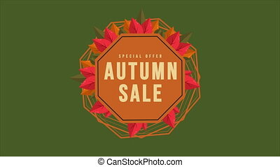 Autumn sale text animation banner