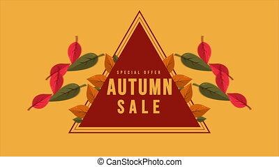 Autumn sale text animation banner