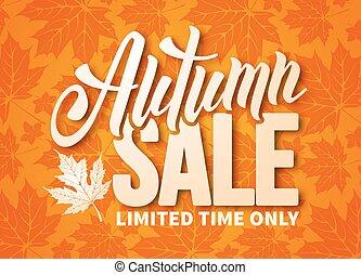 Autumn sale - Seasonal autumn sale ad banner with autumn...