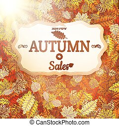 Autumn sale vntage signboard. EPS 10