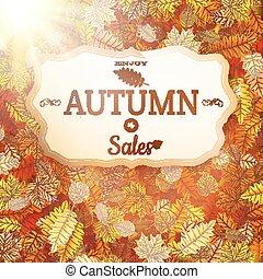 Autumn sale vntage signboard. EPS 10
