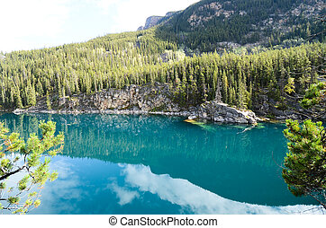 Autumn Scenery of Horseshoe Lake, Canadian Rocky