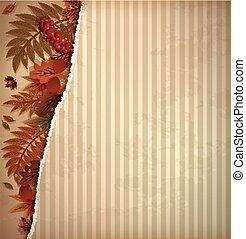 Autumn scrapbooking background