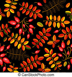 Autumn seamless floral pattern