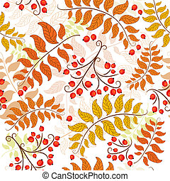 Autumn seamless pattern - Autumn seamless decorative floral...
