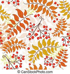 Autumn seamless pattern - Autumn seamless decorative floral...