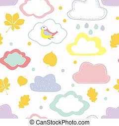 Autumn seamless pattern for kids