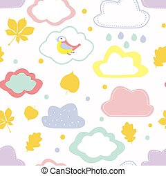 Autumn seamless pattern for kids