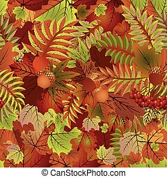 Autumn seamless pattern, vector illustration