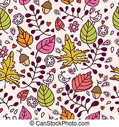 Autumn seamless texture.