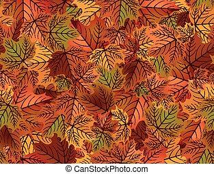 Autumn seamless wallpaper, vector illustration