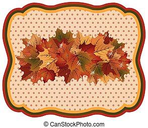 Autumn season background, vector illustration