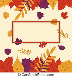Hello autumn vector banner design text greetings for fall season autumn season fall leaf web banner or poster template design with empty frame for text m4hsunfo