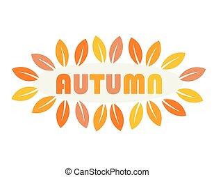 Autumn season label. Vector illustration