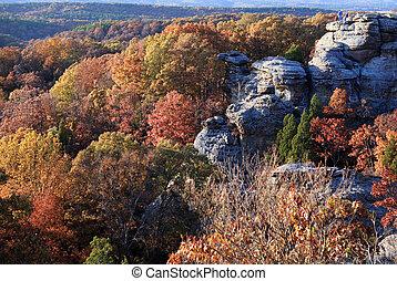 autumn season time in the mountains