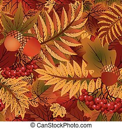 Autumn seasonal background, vector illustration