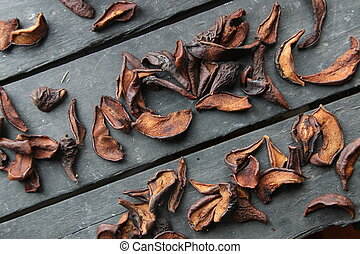 Autumn Seasonal Food. Dry Pear Fruit.