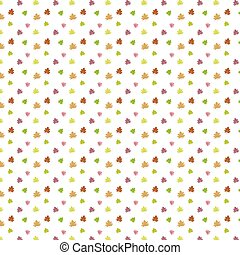 Autumn Set of color Maple Leaves on White Background