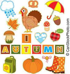 Autumn  Set Textile Element