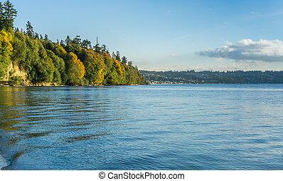 Autumn Shoreline Scene 4
