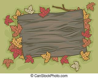 Autumn Signboard