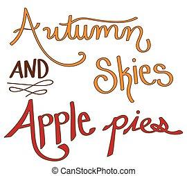 Autumn Skies and Apple Pies