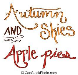Autumn Skies Apple Pies