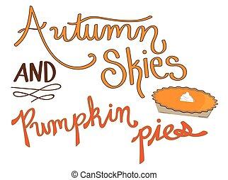 Autumn Skies Pumpkin Pies